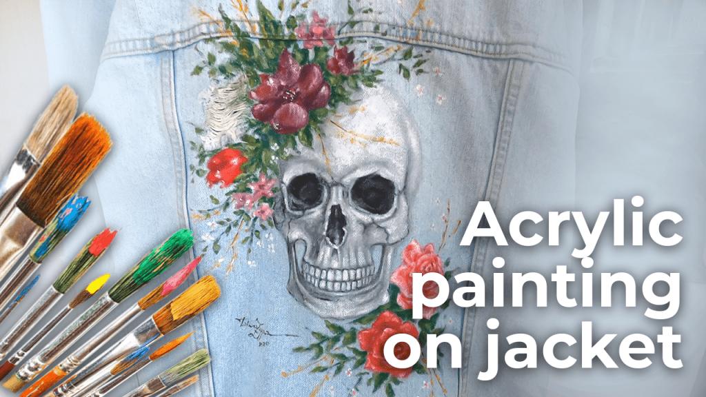 Skull 2020   Acrylic painting on jacket   Oviedo Spain [4K]