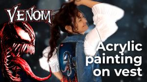 Venom 2020 | Acrylic painting on vest | Oviedo Spain [4K]