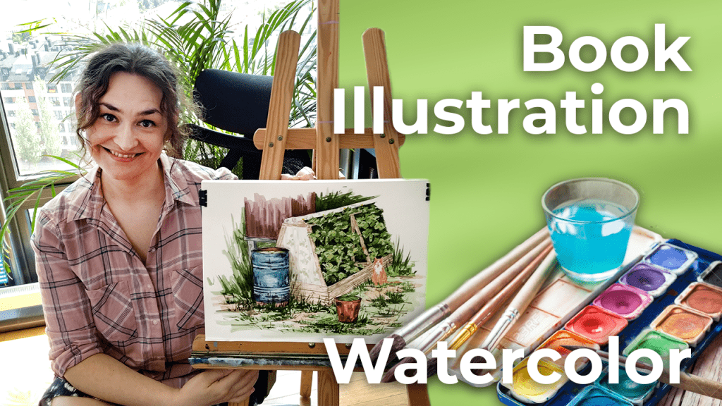 Watercolor Book Illustration   Spain [4K]