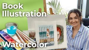 Redhead 2   Watercolor Book Illustration   Spain [4K]