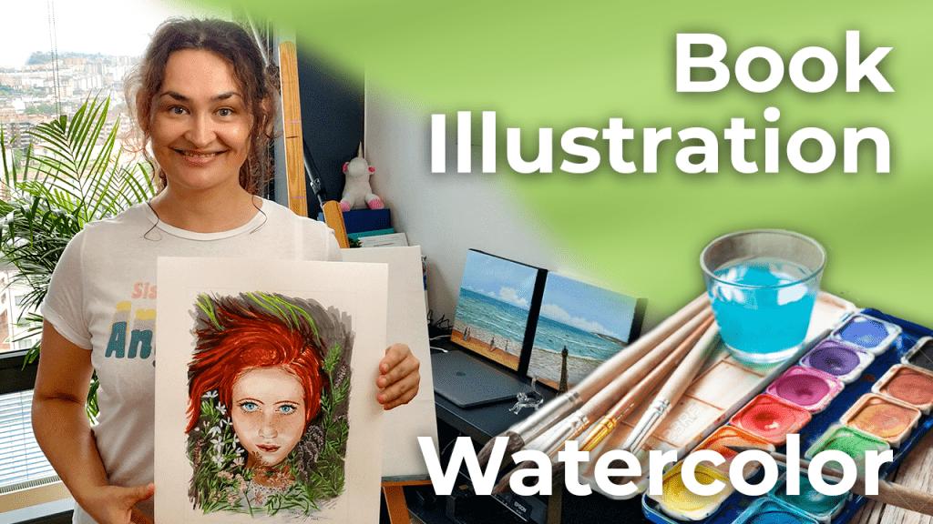 Redhead   Watercolor Book Illustration   Spain [4K]