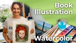 Redhead | Watercolor Book Illustration | Spain [4K]