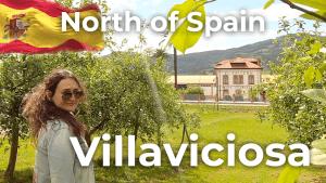 Walking tour Villaviciosa | North of Spain [4K]